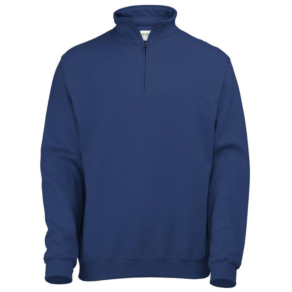 AWDis Mens Ladies Hoods 1//4 Zip Neck Plain Sweatshirt Casual Jumper Sweat JH046