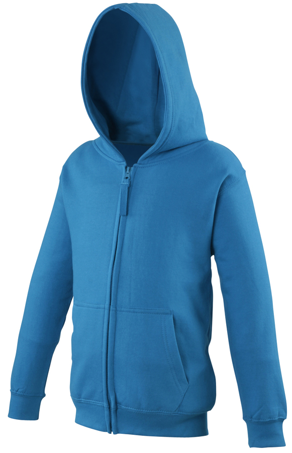 Boys girls zipped hoodie|Ages 3-13 AWDis Just Hoods Kids Varsity Zoodie