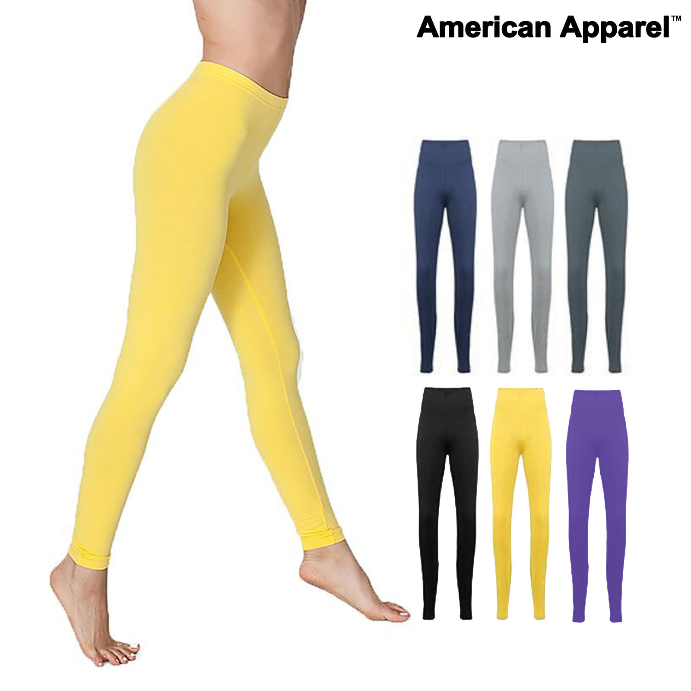 6c8834b841 American Apparel Women's leggings (8328) - Cotton Spandex Jersey gym ...