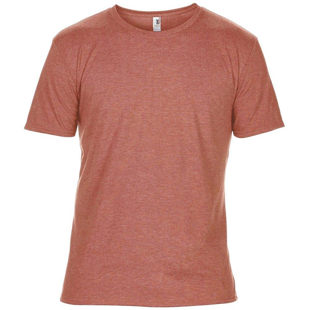 Men Plain Poly Cotton Loose Fit T-Shirt Anvil Adult Triblend V-Neck Tee 6752