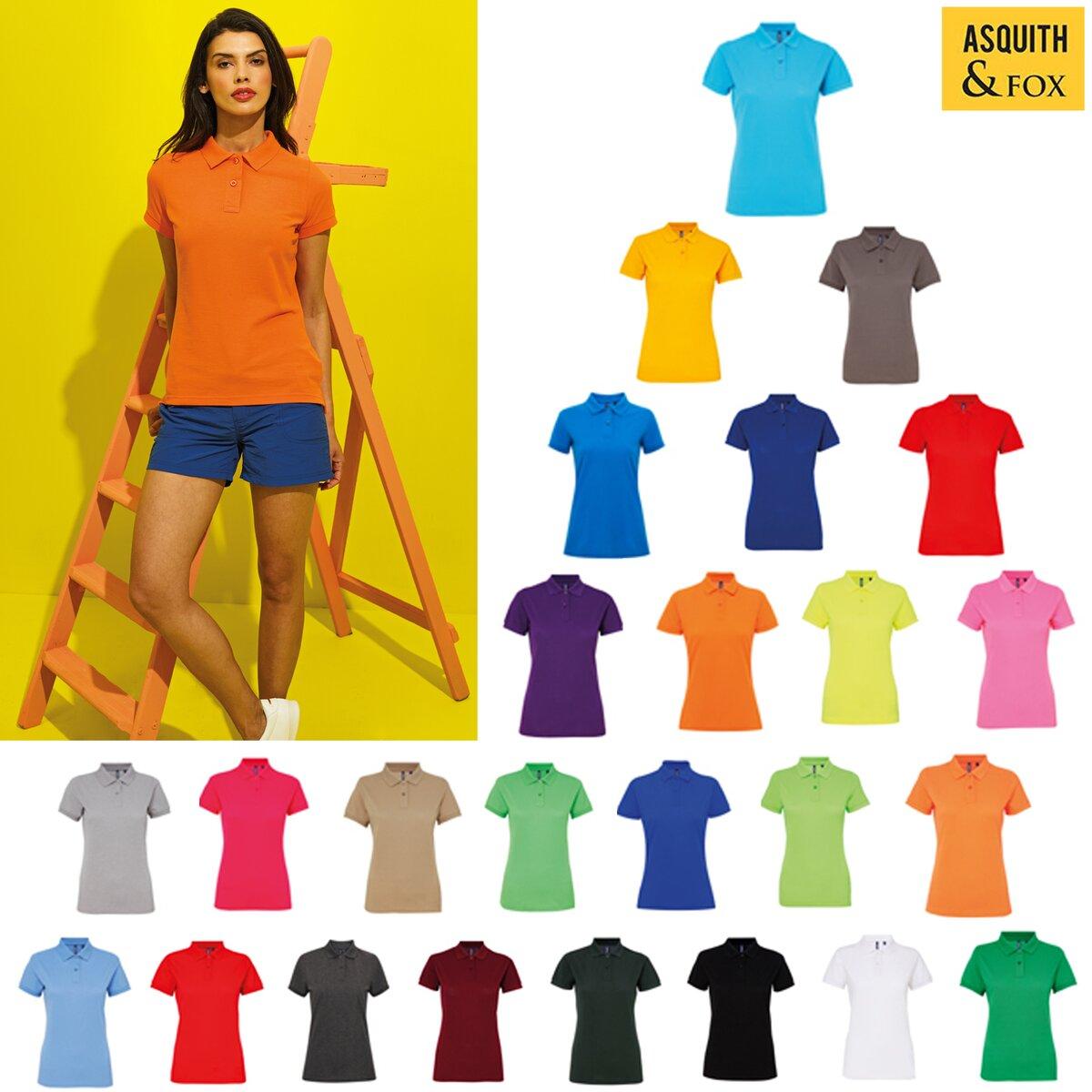 5b1d85a5 Asquith & Fox Women's Poly/Cotton Blend Polo AQ025 -athleisure ...
