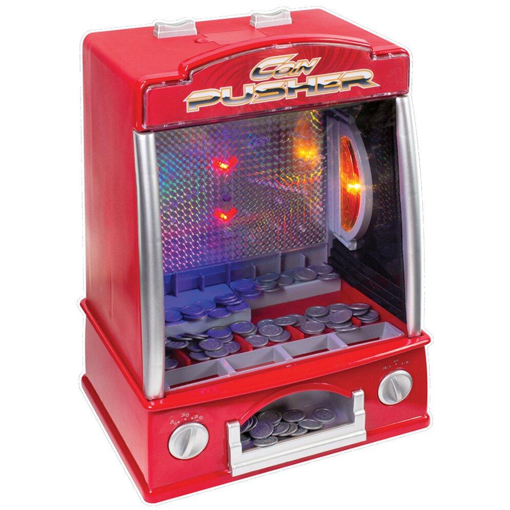 Classique Fairground coin Pusher Pusher Pusher jeu avec lumières et sons-Fun Party Game 3bcb8e