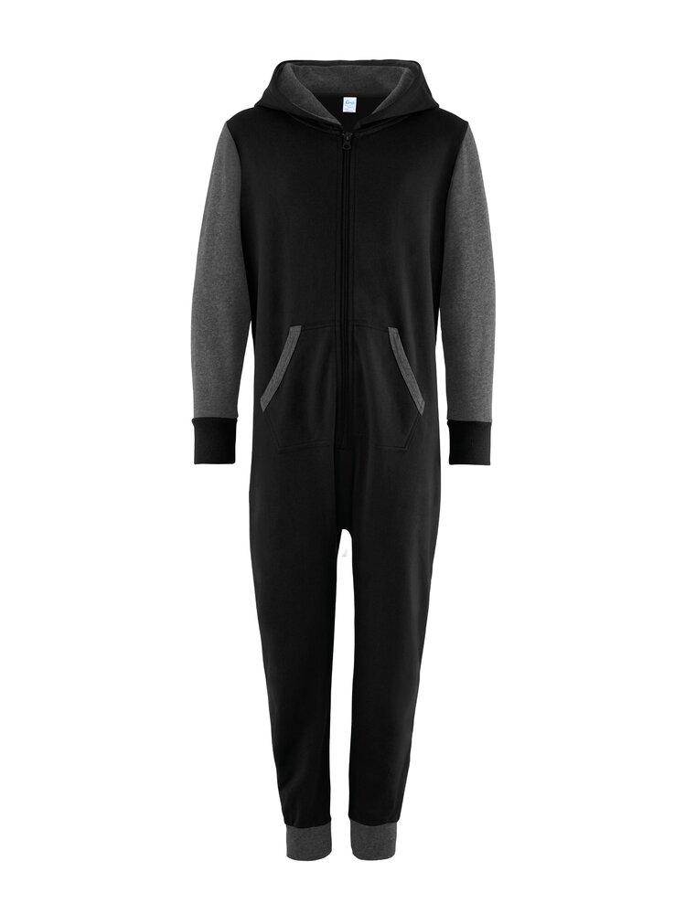 Comfy Co Kids Contrast All In One Pouch Pocket Long Sleeve Nightwear CC003J