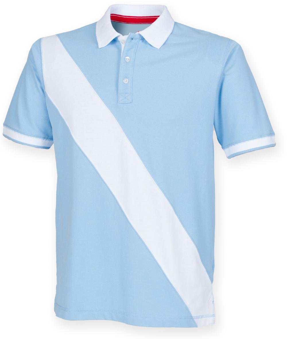 Front-Row-Diagonal-Stripe-Pique-Tag-gratuit-Polo-FR212-Tag-libre-Shirt miniature 8