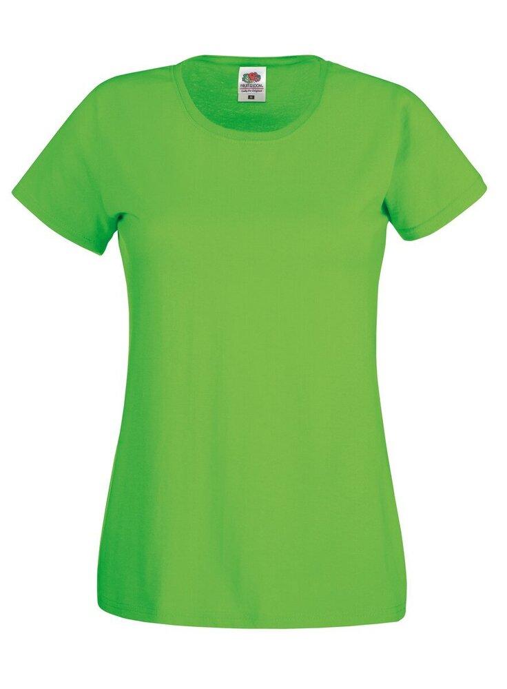 FRUIT OF THE LOOM Women/'s Lady-fit ORIGINALE T-Shirt-Maglietta Semplice Casual Cotone