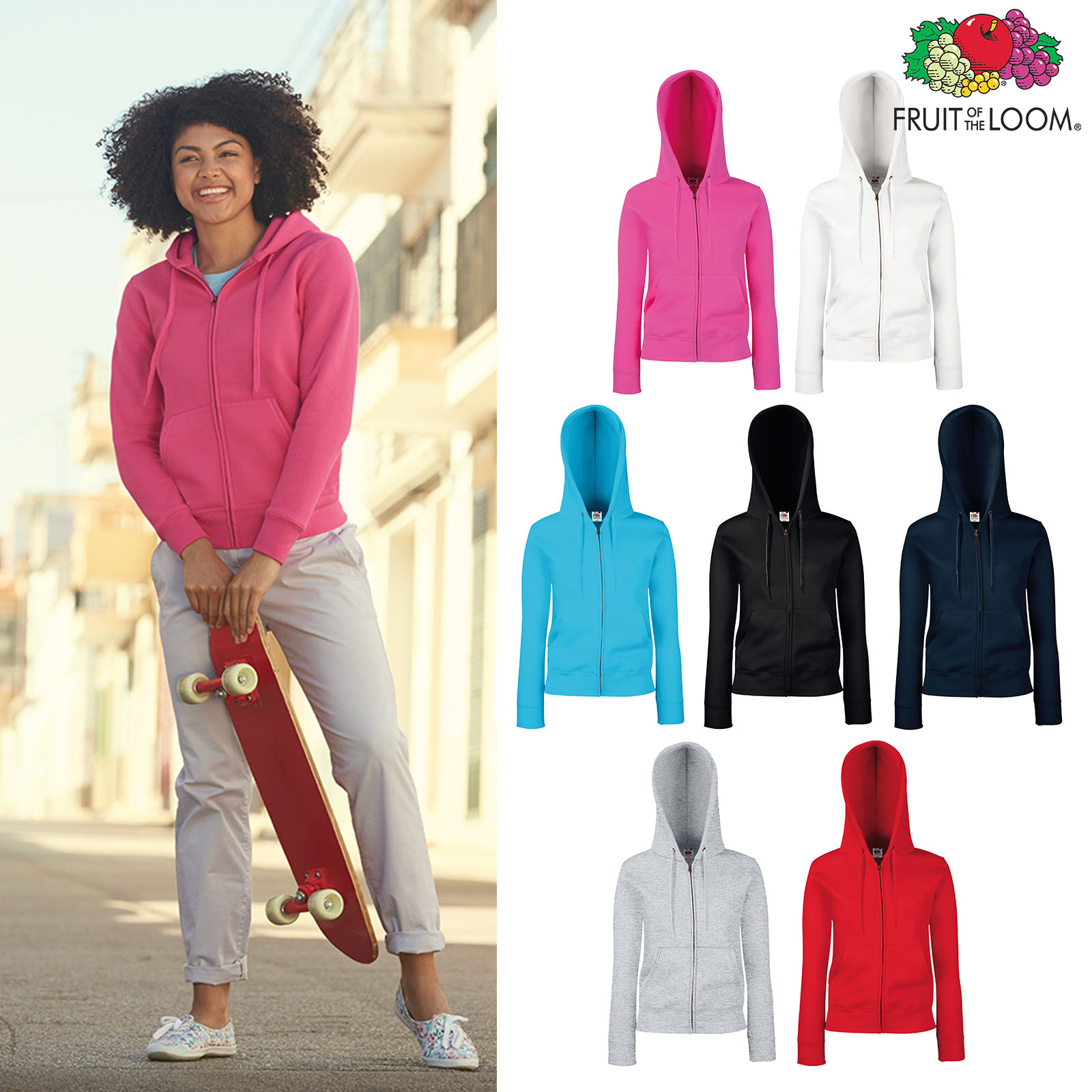 Lady-Fit Premium Sweat JacketFruit of the Loom
