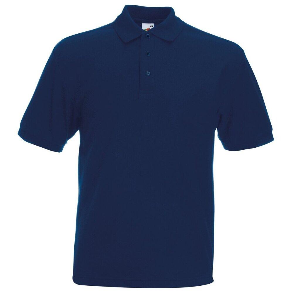 Fruit Of the Loom Men/'s Polo Tshirt 65//35 Unisex pack of 3 shirt