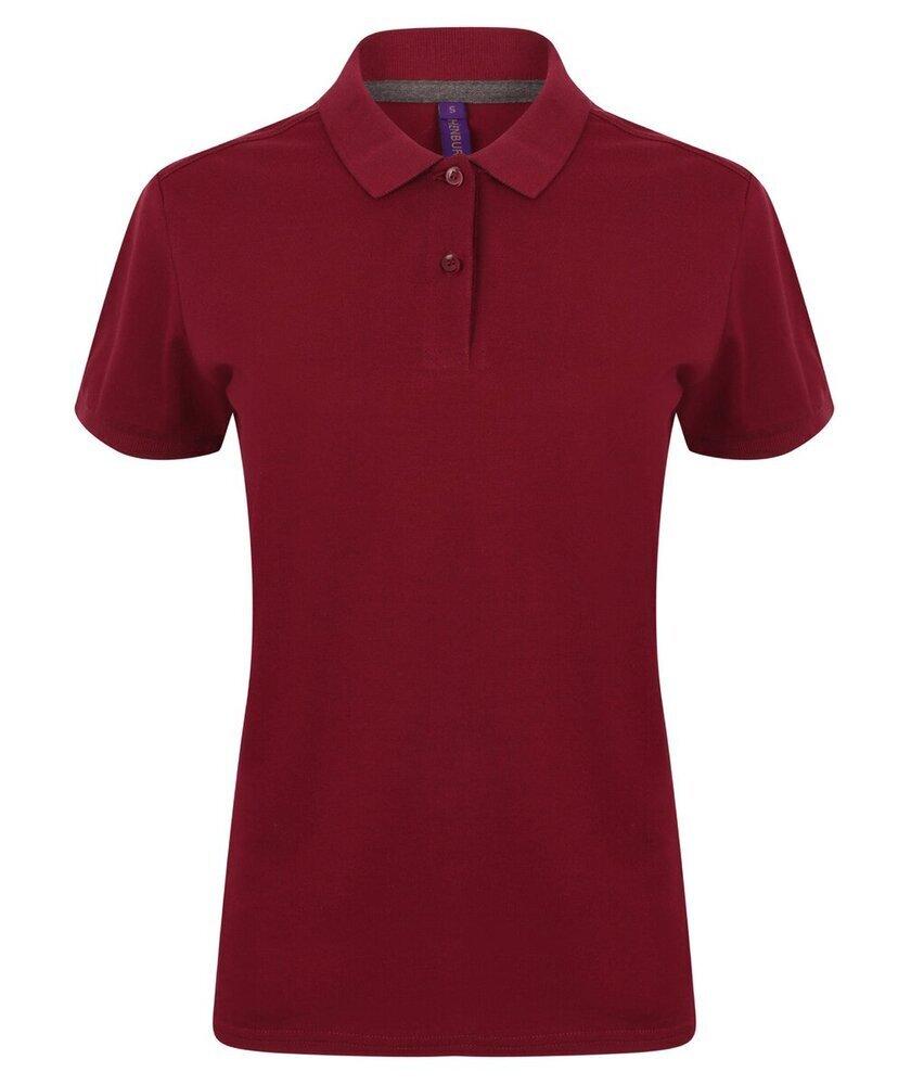 Henbury-Women-039-s-Micro-fine-Pique-Polo-Shirt-H102-Ladies-Short-Sleeve-Plain-Tee thumbnail 7