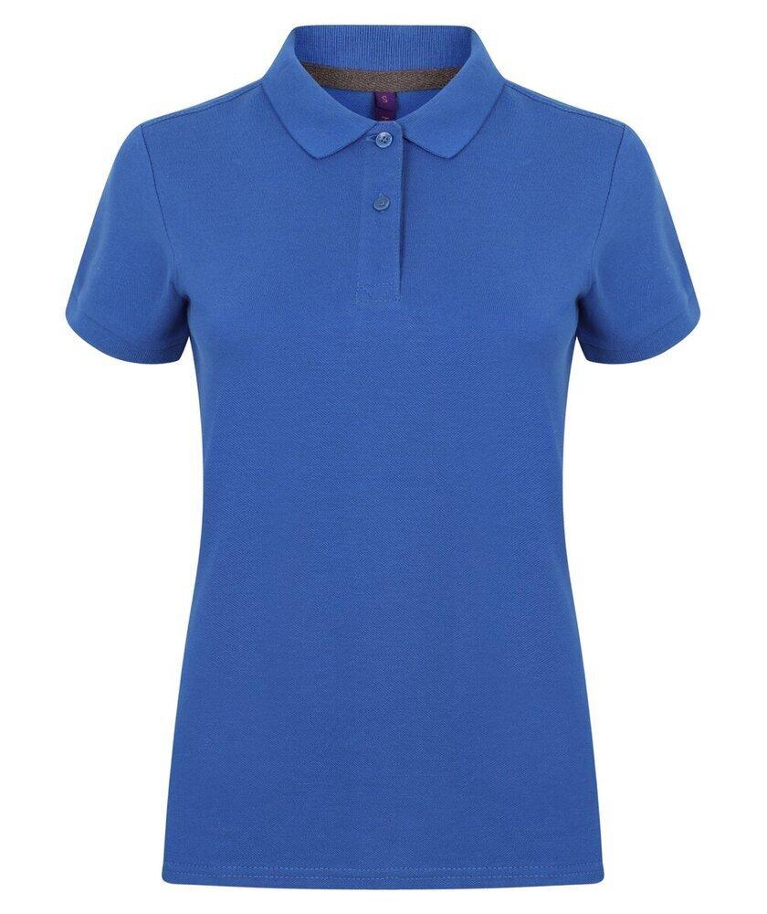 Henbury-Women-039-s-Micro-fine-Pique-Polo-Shirt-H102-Ladies-Short-Sleeve-Plain-Tee thumbnail 14