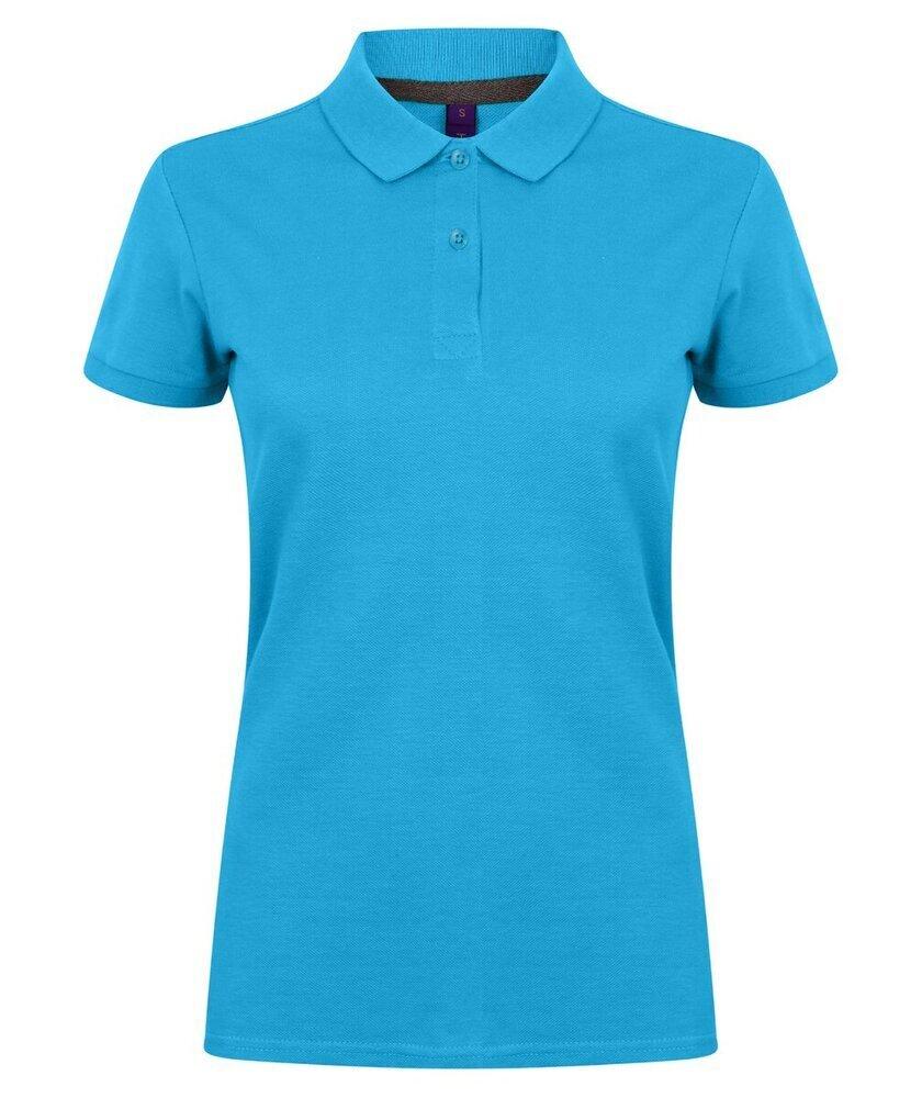 Henbury-Women-039-s-Micro-fine-Pique-Polo-Shirt-H102-Ladies-Short-Sleeve-Plain-Tee thumbnail 15