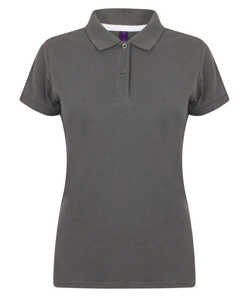 Henbury-Women-039-s-Micro-fine-Pique-Polo-Shirt-H102-Ladies-Short-Sleeve-Plain-Tee thumbnail 16