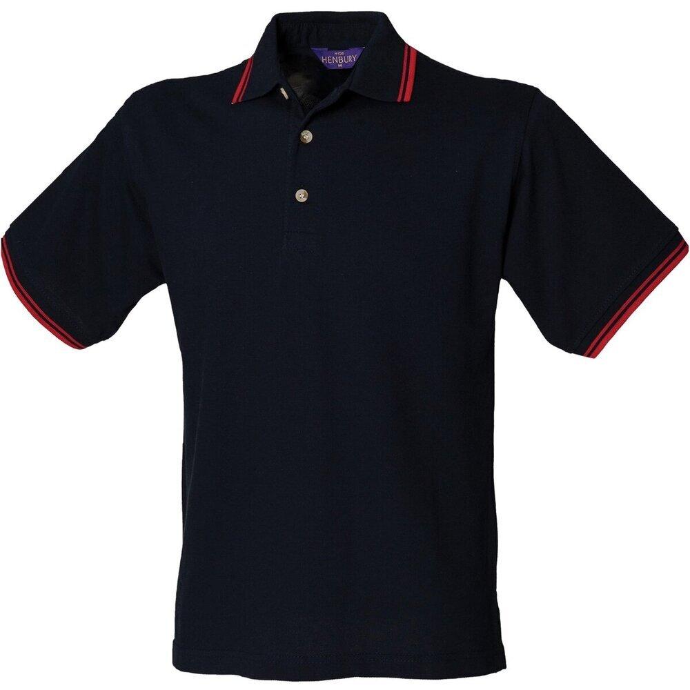 Men/'s Polo Shirt Tipped Collar Polo Shirt Summer Cotton Short Sleeve Shirt BNWT