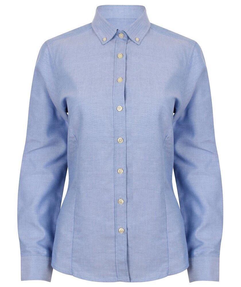 HENBURY-Para-mujeres-Mangas-Largas-Camisa-Oxford-moderna-H513-formal-senoras-desgaste-de-la-oficina miniatura 5