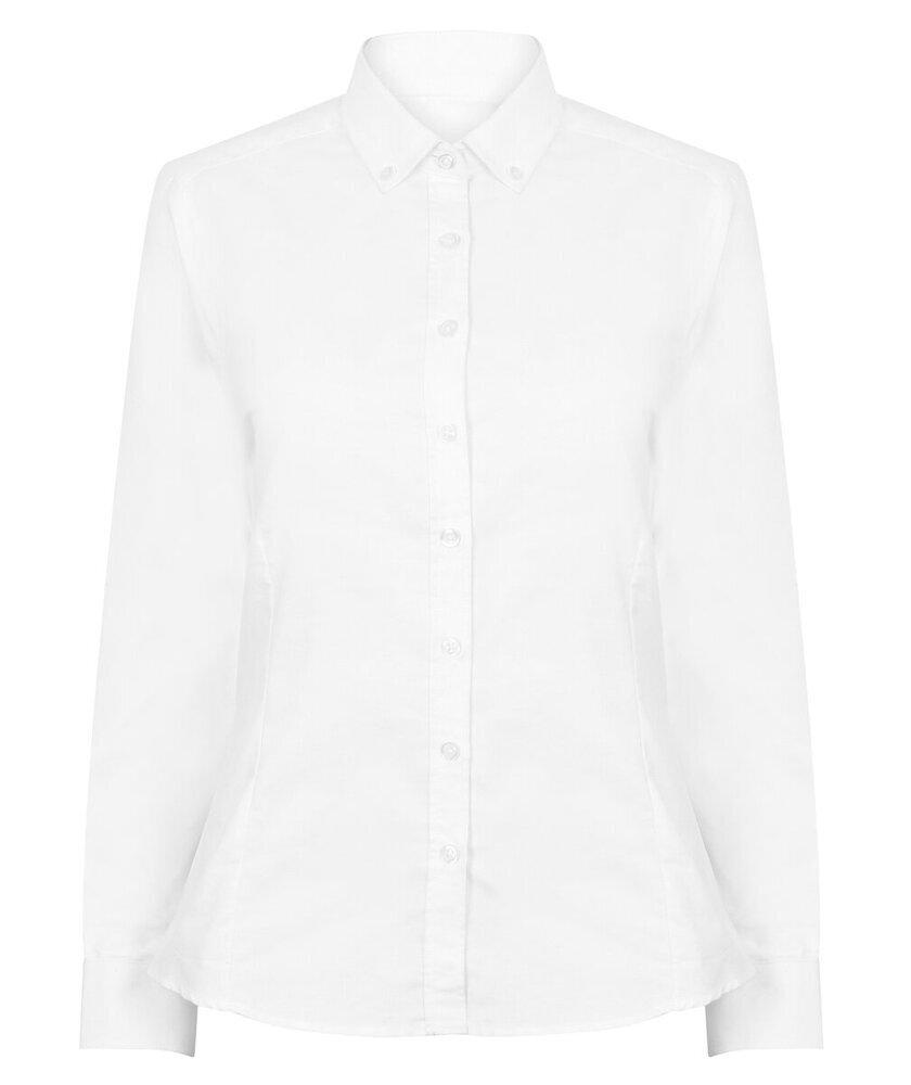 HENBURY-Para-mujeres-Mangas-Largas-Camisa-Oxford-moderna-H513-formal-senoras-desgaste-de-la-oficina miniatura 6
