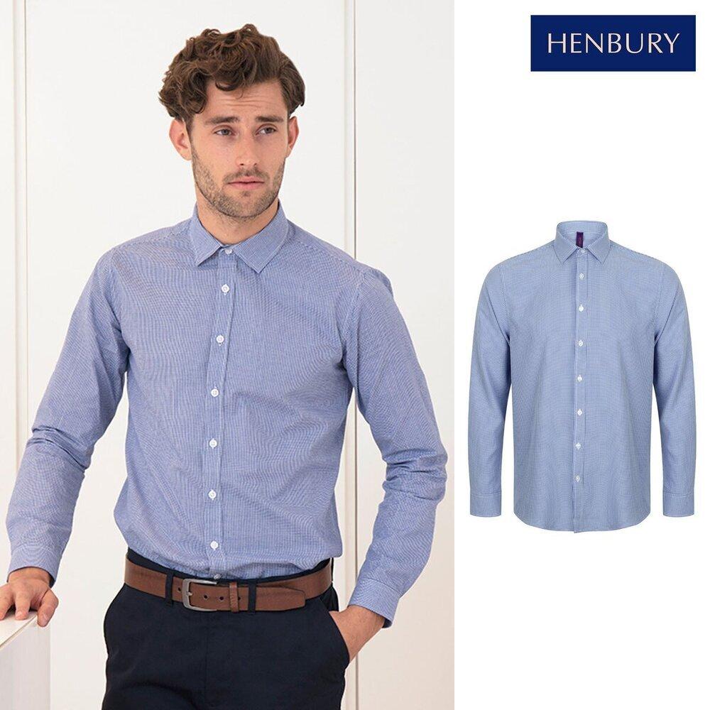 Candido Henbury Gingham Pufy Wicking Camicia A Maniche Lunghe H580-mostra Il Titolo Originale
