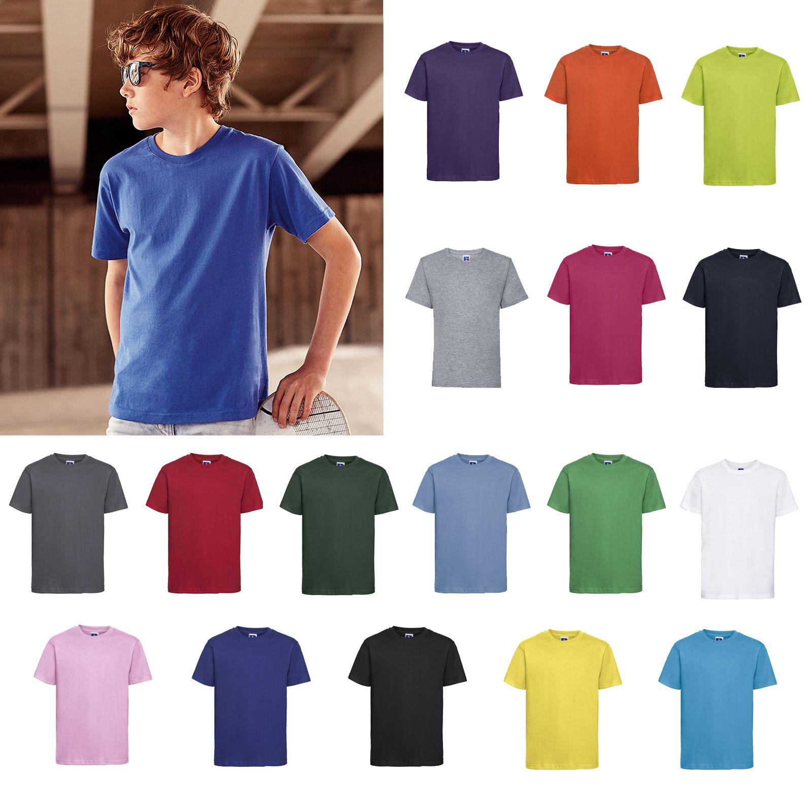 Jerzees Schoolgear Kids Slim Fit T-shirt R-155B-0 - Crew Neck Short Sleeve Tee