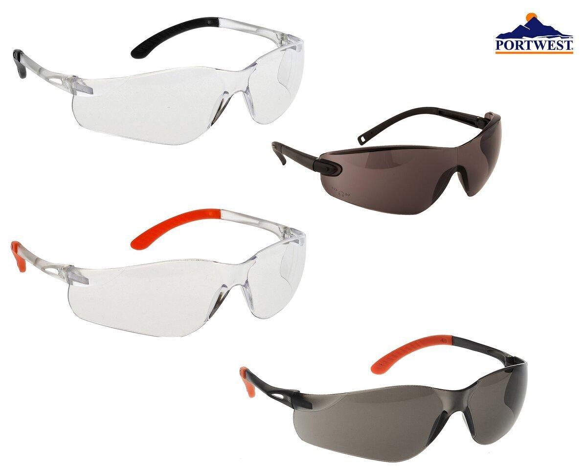 Portwest Fossa Safety Spectacle PW15 Eye Protection Workwear Stylish Glasses