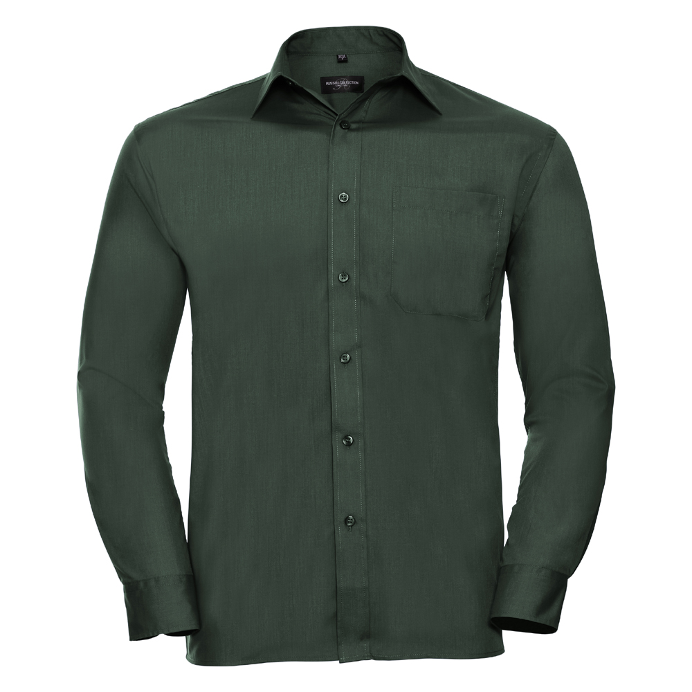 Russell-Collection-Popelina-Camisa-para-hombre-Manga-larga-R-934M-0-Camisa-de-trabajo-formal miniatura 6