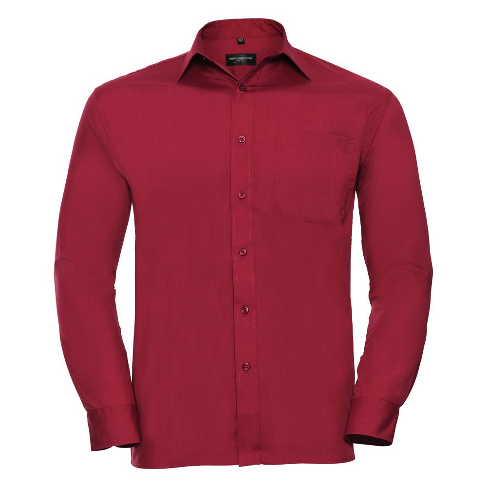Russell-Collection-Popelina-Camisa-para-hombre-Manga-larga-R-934M-0-Camisa-de-trabajo-formal miniatura 8
