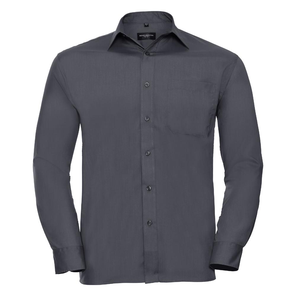 Russell-Collection-Popelina-Camisa-para-hombre-Manga-larga-R-934M-0-Camisa-de-trabajo-formal miniatura 9