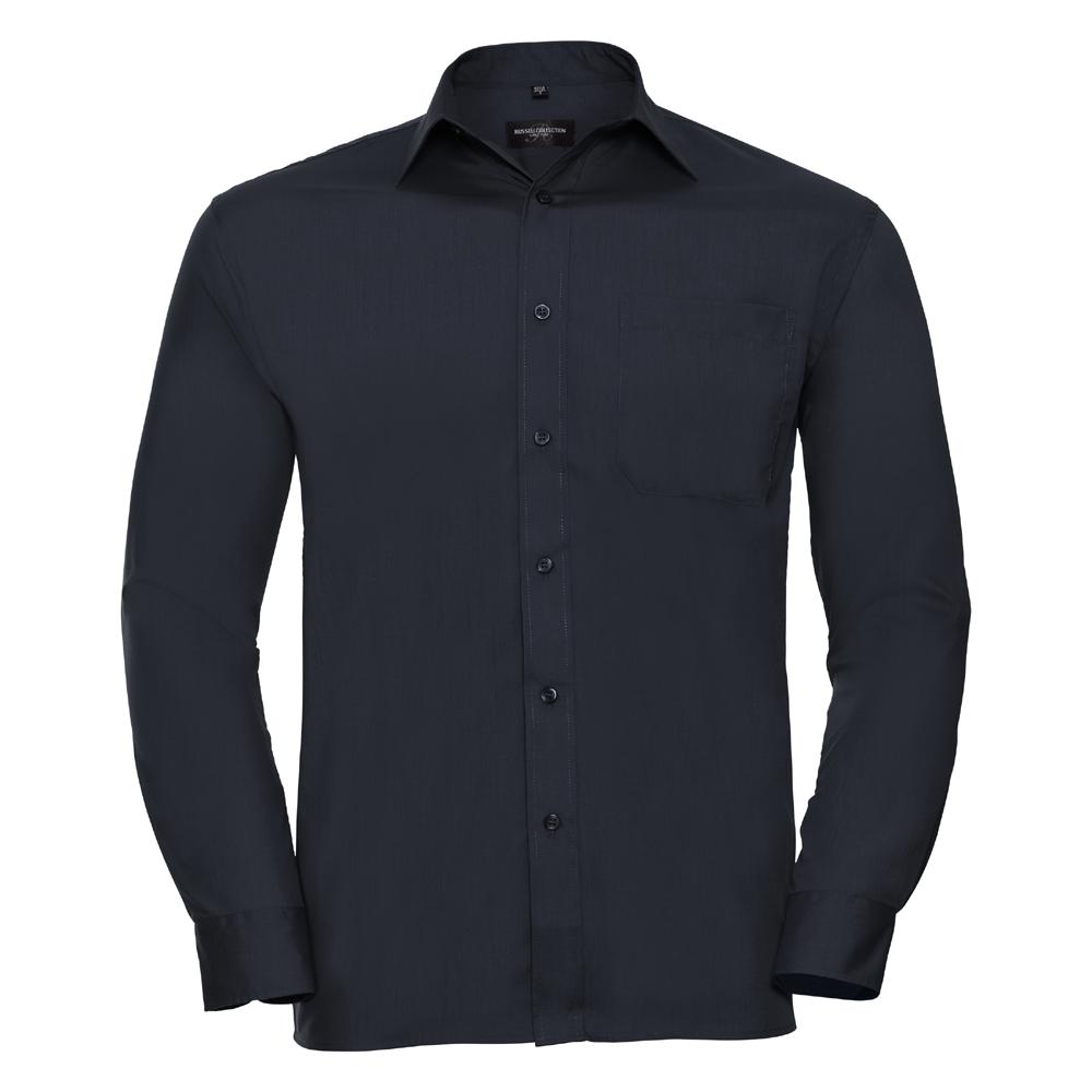 Russell-Collection-Popelina-Camisa-para-hombre-Manga-larga-R-934M-0-Camisa-de-trabajo-formal miniatura 11