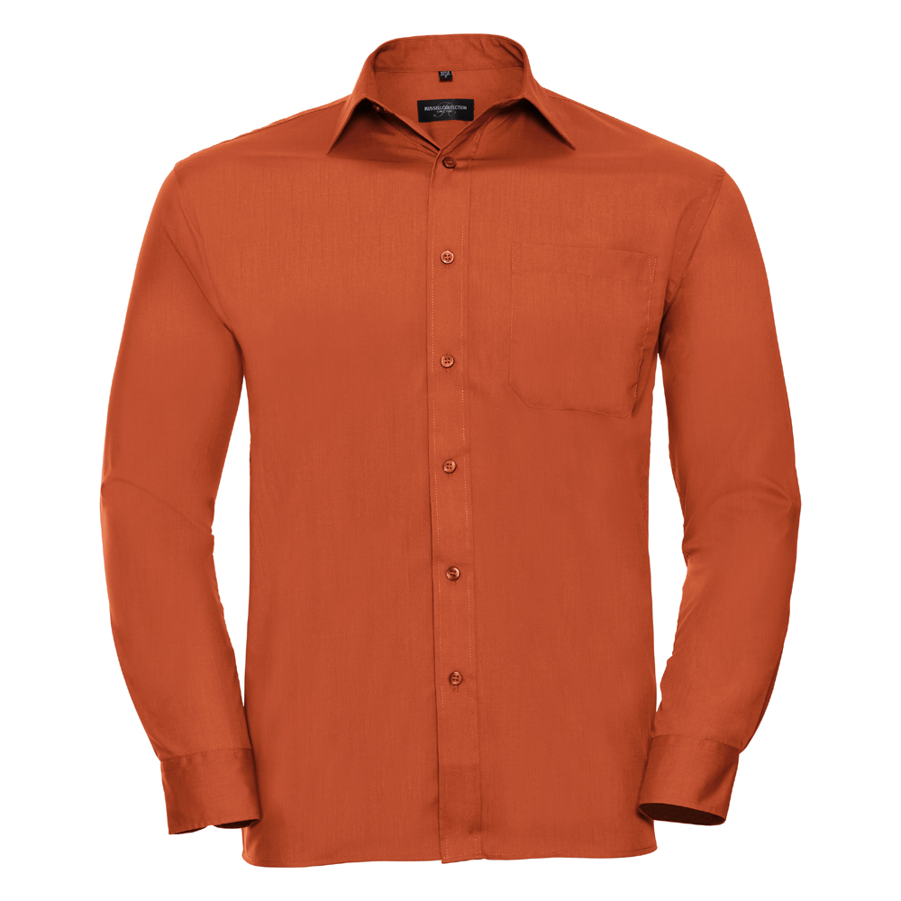 Russell-Collection-Popelina-Camisa-para-hombre-Manga-larga-R-934M-0-Camisa-de-trabajo-formal miniatura 13