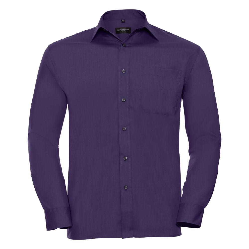 Russell-Collection-Popelina-Camisa-para-hombre-Manga-larga-R-934M-0-Camisa-de-trabajo-formal miniatura 14