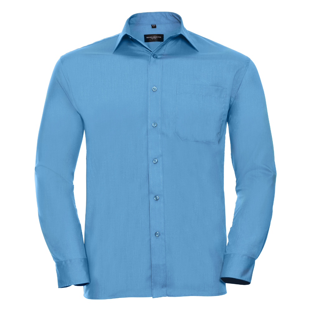Russell-Collection-Popelina-Camisa-para-hombre-Manga-larga-R-934M-0-Camisa-de-trabajo-formal miniatura 15