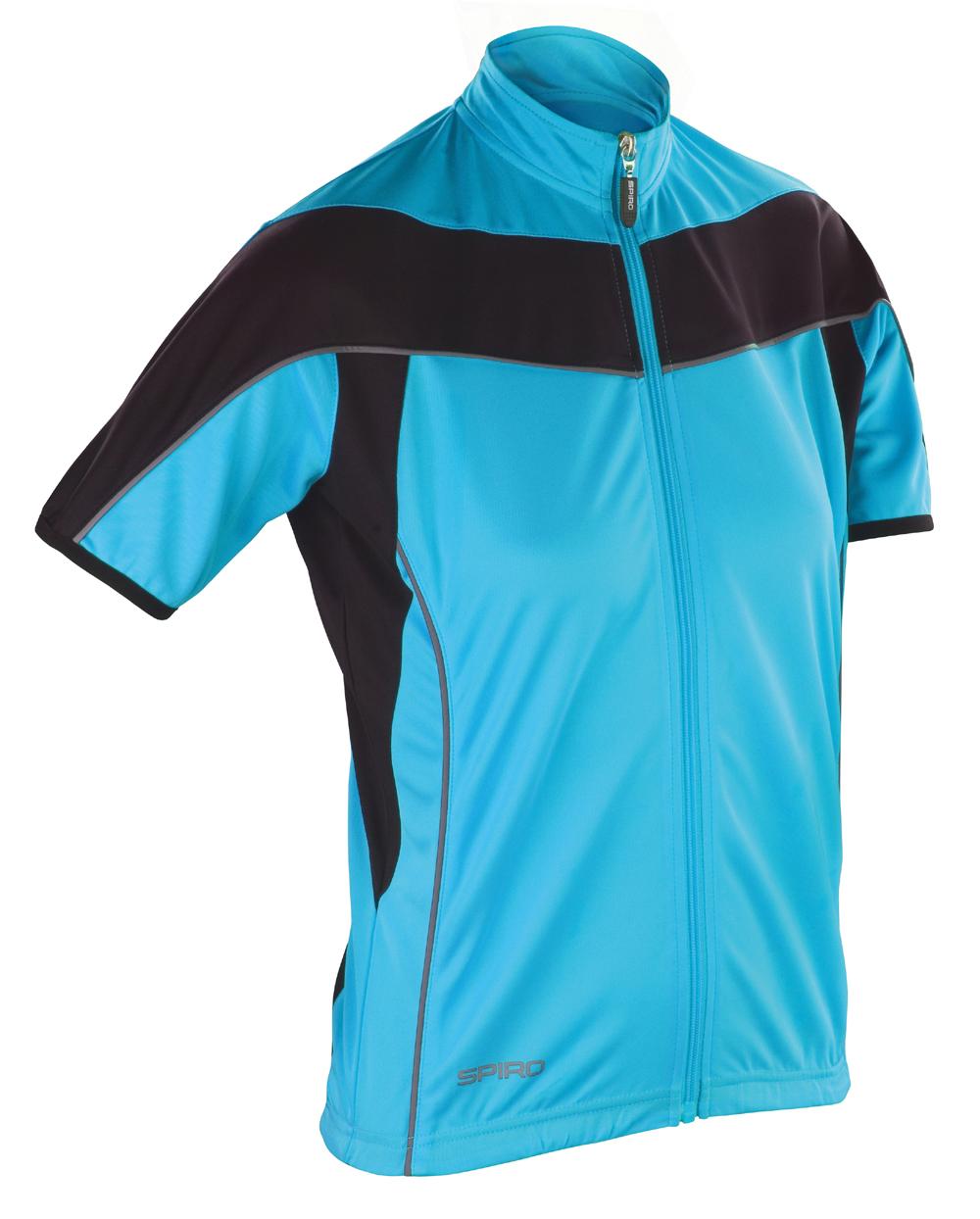 Spiro Women/'s Bikewear Full Zip Top -Zipped Short Sleeve Cycling T-Shirt S188F