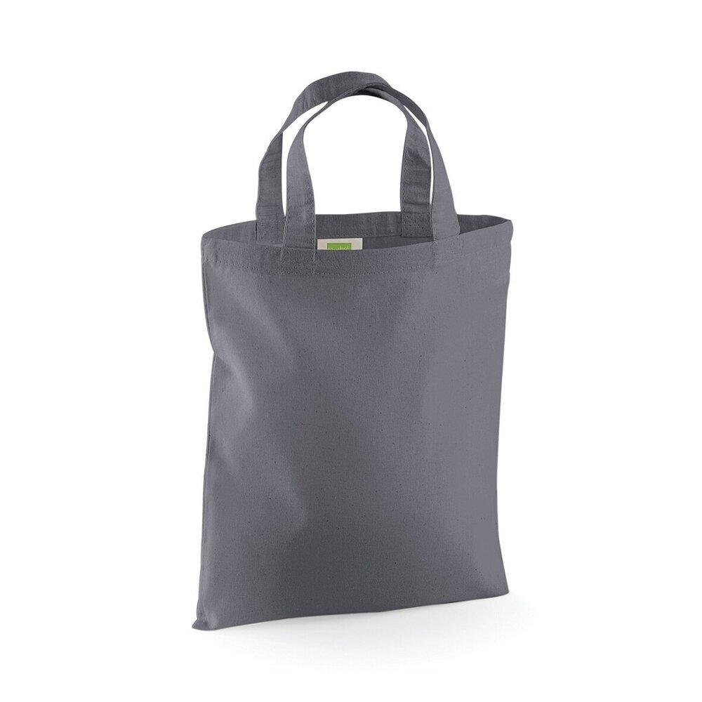 W104 Westford Mill Mini Bag For Life Ladies Shopper Tote 100/% Cotton Reusable